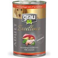 12 x 200 g   grau   Adult Rind, Geflügel & Gemüse Excellence   Nassfutter   Hund
