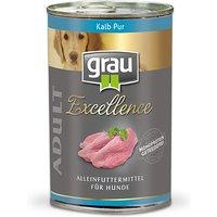 24 x 400 g | grau | Adult Kalb Pur Excellence | Nassfutter | Hund