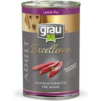 24 x 400 g | grau | Lamm Pur Excellence | Nassfutter | Hund