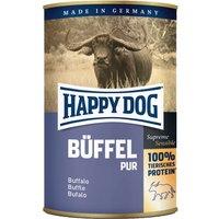 12 x 400 g | Happy Dog | Single Protein Büffel Pur Fleisch Pur | Nassfutter | Hund