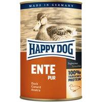 24 x 400 g | Happy Dog | Ente Pur Supreme Sensible | Nassfutter | Hund