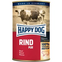 24 x 200 g | Happy Dog | Rind Pur Supreme Sensible | Nassfutter | Hund