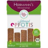 250 g | Herrmanns | Bio-Hühnerstreifen  Pfotis | Snack | Hund