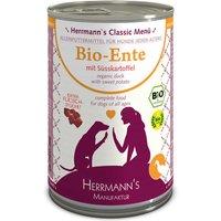 24 x 800 g | Herrmanns | Bio-Ente mit Süßkartoffeln Classic | Nassfutter | Hund