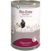 24 x 200 g | Herrmanns | Bio-Ente Reinfleisch  Kreativ-Mix | Nassfutter | Hund,Katze