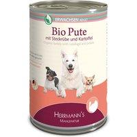 6 x 400 g | Herrmanns | Adult Bio-Pute mit Wurzelgemüse, Kartoffeln und Fenchel Selection | Nassfutter | Hund