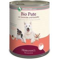 12 x 800 g   Herrmanns   Adult Bio-Pute mit Wurzelgemüse, Kartoffeln und Fenchel Selection   Nassfutter   Hund