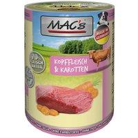 24 x 400 g | MACs | Kopffleisch & Karotten Dog | Nassfutter | Hund