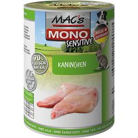 24 x 800 g | MACs | Kaninchen Dog Mono Sensitive | Nassfutter | Hund