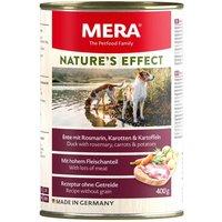 12 x 200 g | Mera | Ente mit Rosmarin, Karotten und Kartoffeln Nature's Effect | Nassfutter | Hund