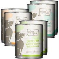 12 x 400 g | Mjamjam | Mixpaket mit Huhn, Rind und Pute Mahlzeit | Nassfutter | Hund
