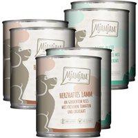 24 x 200 g | Mjamjam | Mixpaket mit Lamm und Pute Mahlzeit | Nassfutter | Hund