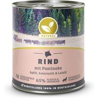 800 g | Natural | Rind mit Pastinake | Nassfutter | Hund
