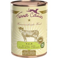 6 x 400 g | Terra Canis | Kalb mit Hirse, Gurke, gelber Melone & Bärlauch Classic | Nassfutter | Hund