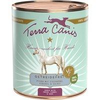 6 x 800 g   Terra Canis   Pferd mit Steckrübe, Fenchel und Salbei Getreidefrei   Nassfutter   Hund