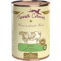 12 x 400 g | Terra Canis | Rind mit Karotte, Apfel & Naturreis Classic | Nassfutter | Hund