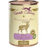 24 x 200 g | Terra Canis | Wild mit Kürbis, Preiselbeeren und Amaranth Classic | Nassfutter | Hund