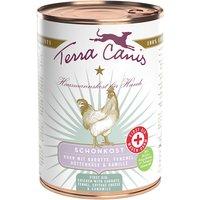 12 x 400 g | Terra Canis | Schonkost Huhn mit Karotte, Fenchel, Hüttenkäse und Kamille First Aid | Nassfutter | Hund