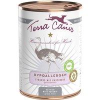 6 x 400 g | Terra Canis | Strauss mit Pastinake Hypoallergen | Nassfutter | Hund