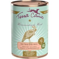 12 x 400 g | Terra Canis | Pute mit Sellerie, Kürbis & Brunnenkresse Getreidefrei | Nassfutter | Hund