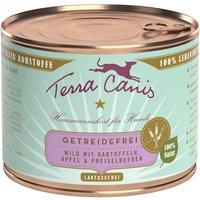 24 x 200 g | Terra Canis | Wild mit Kartoffeln, Apfel & Preiselbeeren Getreidefrei | Nassfutter | Hund