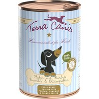 12 x 400 g | Terra Canis | Huhn mit Kürbis, Kamille & Blütenpollen Welpe | Nassfutter | Hund