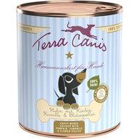 6 x 800 g | Terra Canis | Huhn mit Kürbis, Kamille & Blütenpollen Welpe | Nassfutter | Hund