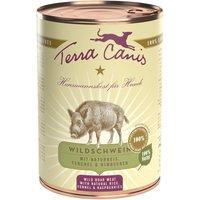 6 x 400 g   Terra Canis   Wildschwein mit Naturreis, Fenchel & Himbeeren Classic   Nassfutter   Hund