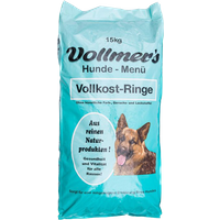 2 x 15 kg | Vollmer's | Vollkost-Ringe | Trockenfutter | Hund