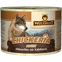 12 x 190 g | Wolfsblut | Chickeria mit Hühnerfilet und Kalbfleisch Adult | Nassfutter | Hund