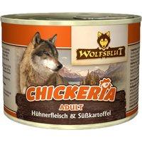 6 x 190 g   Wolfsblut   Chickeria Adult mit Hühnerfleisch & Süßkartoffel Adult   Nassfutter   Hund