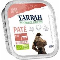 24 x 150 g | Yarrah | mit Rind & Spirulina Paté | Nassfutter | Hund
