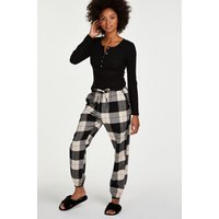 Hunkemöller Petite Twill Check Pyjama pants Black