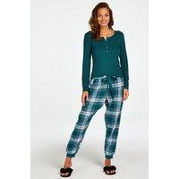 Hunkemöller Petite Twill Check Pyjama pants Blue
