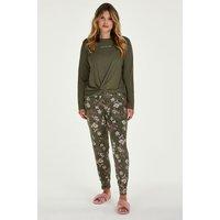 Hunkemöller Jersey pyjama bottoms Green
