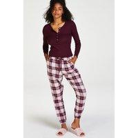 Hunkemöller Petite Twill Check Pyjama Pants Red