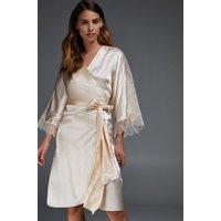 Hunkemöller Silk Lace Kimono Beige