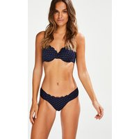 Hunkemöller Butterfly Rio Bikini-Slip Scallop Bloom Blau