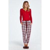Hunkemöller Pantalón de pijama Twill Check Rojo