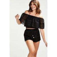 Hunkemoller Short Crochet Zwart