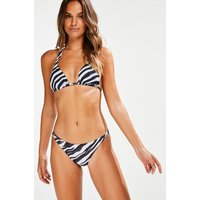 Hunkemoller Laag cheeky bikinibroekje Zebra Zwart
