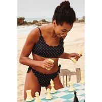 Hunkemoller Cheeky bikinibroekje Scallop Goddess Zwart