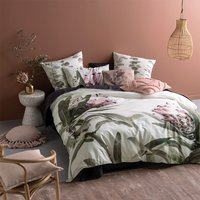 Linen House Alice Super King Duvet Cover Set, Pillowcase Sham and Polyester Filled Cushion  Cotton - Multicoloured