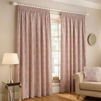 Paoletti Olivia Pencil Pleat Curtains, Polyester -  66X90