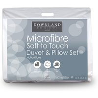 Downland Complete Micro Mibre Bed Set - 10.5  Tog Duvet and Pillows (Double)