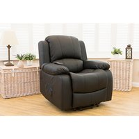 Chicago Bonded Leather Rise and Recliner Chair with Heat and Massage