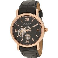 Mathey-Tissot Gent's Automatic Watch with Skeleton Dial, PVD Plated Case, Genuine Leather Strap with