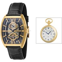 Thomas Earnshaw Gents Holborn Skeleton Automatic Watch with Genuine Leather Strap and Gift