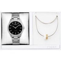 Fjord Ladies Vendela Watch with Stainless Steel Bracelet and Necklace Gift Set