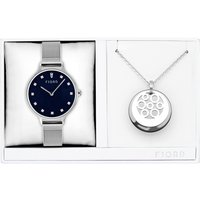Fjord Ladies Niklaas Watch with Milanese Strap and Necklace Gift Set